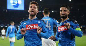 Mertens esultanza Napoli Barcellona