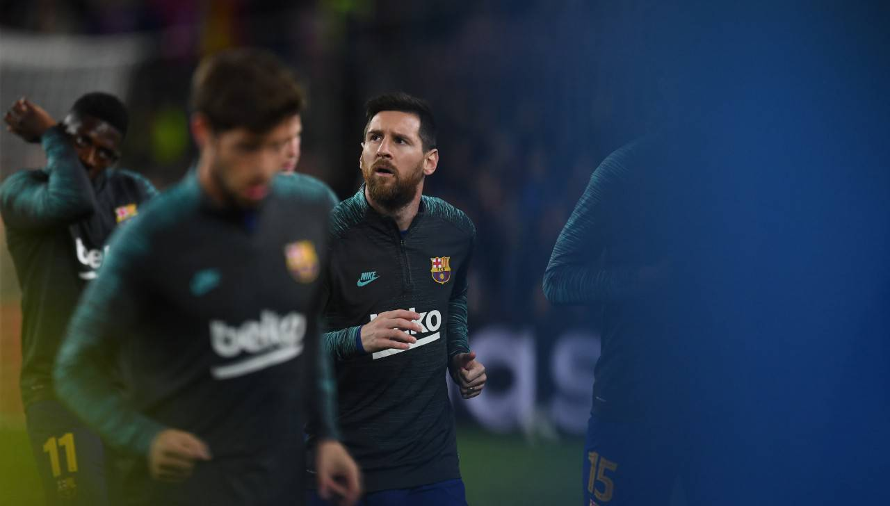 Napoli Barcellona Lionel Messi