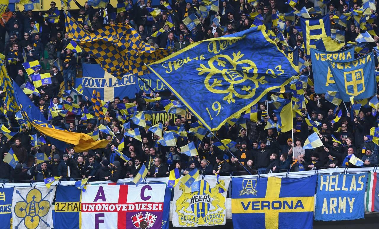Tifosi curva Verona
