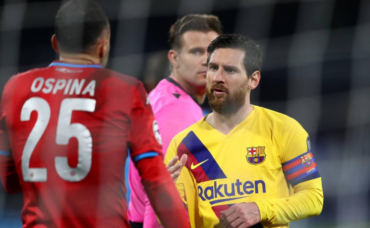 Ospina Messi Bartomeu Barcellona Napoli