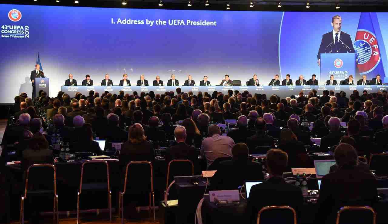 La Uefa propone ipotesi di ripresa