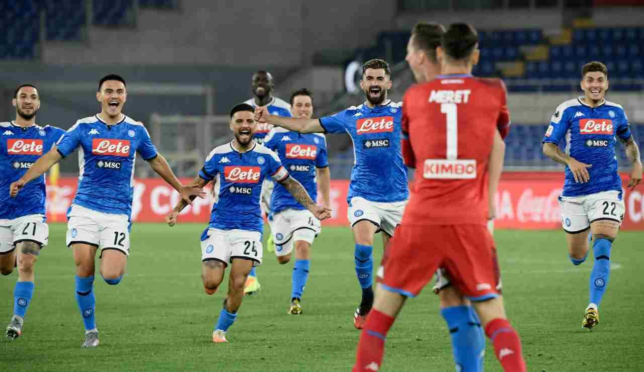 esultanza calciatori del Napoli