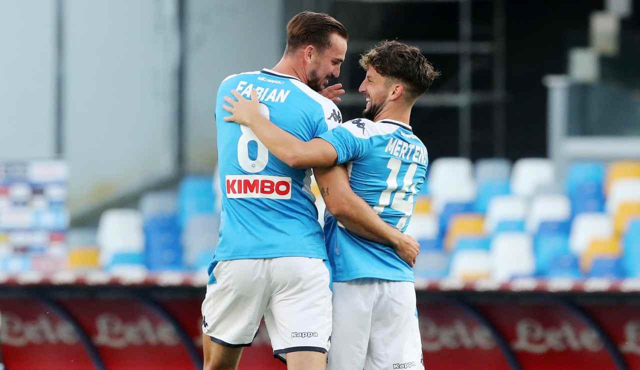 Napoli rinnovi titolari Mertens e Fabian Ruiz