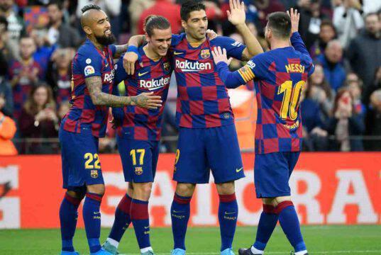 Barcellona Napoli Vidal Griezmann Suarez Messi