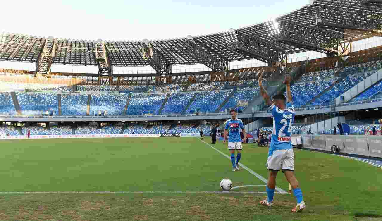 Napoli calcio d'angolo