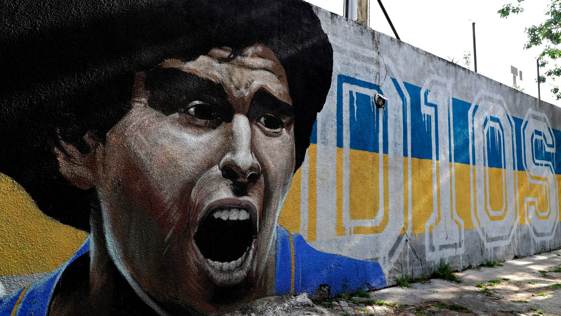 Maradona murale Boca
