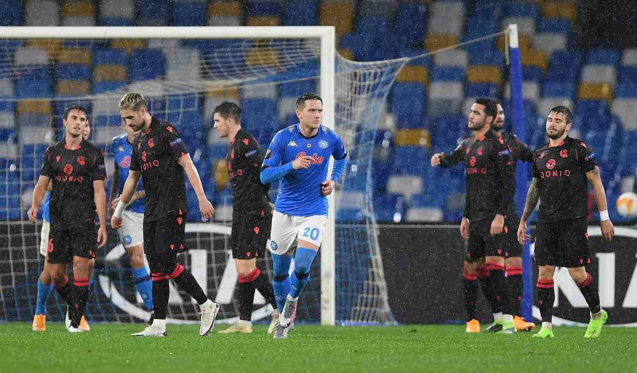 Napoli Real Sociedad Zielinski