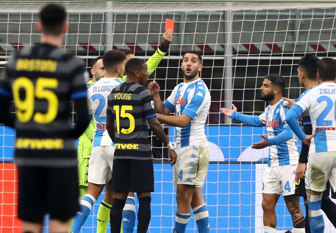 Insigne espulsione Inter Napoli