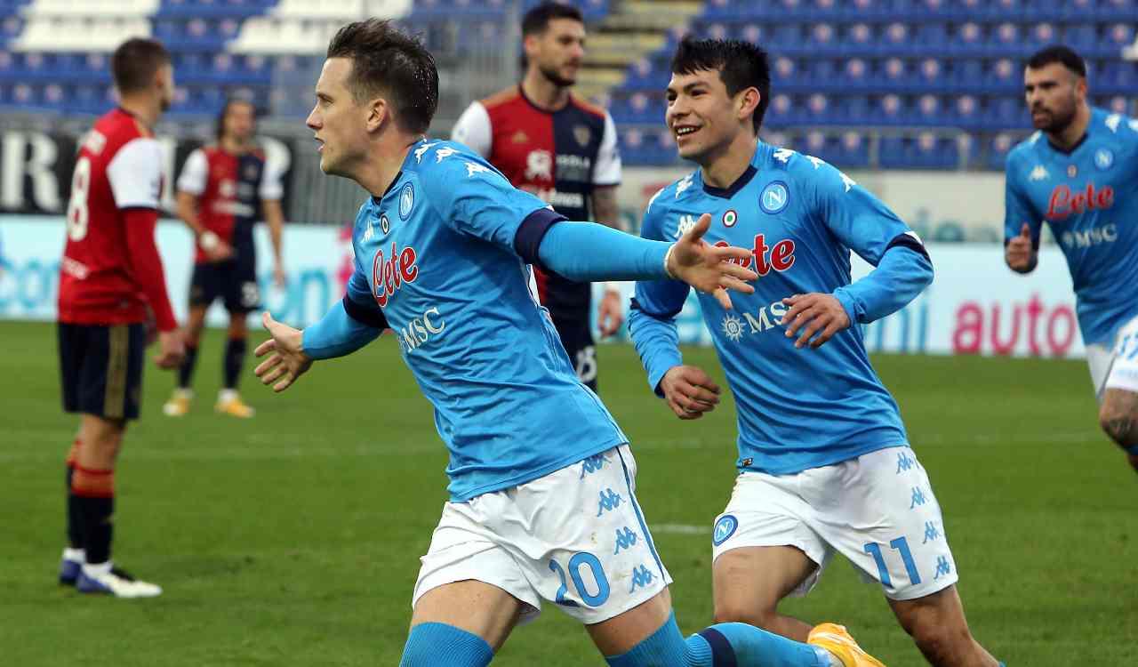 Cagliari Napoli Zielinski Lozano