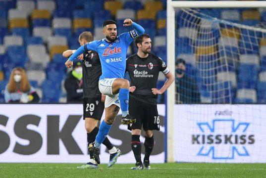Insigne esultanza Napoli Bologna