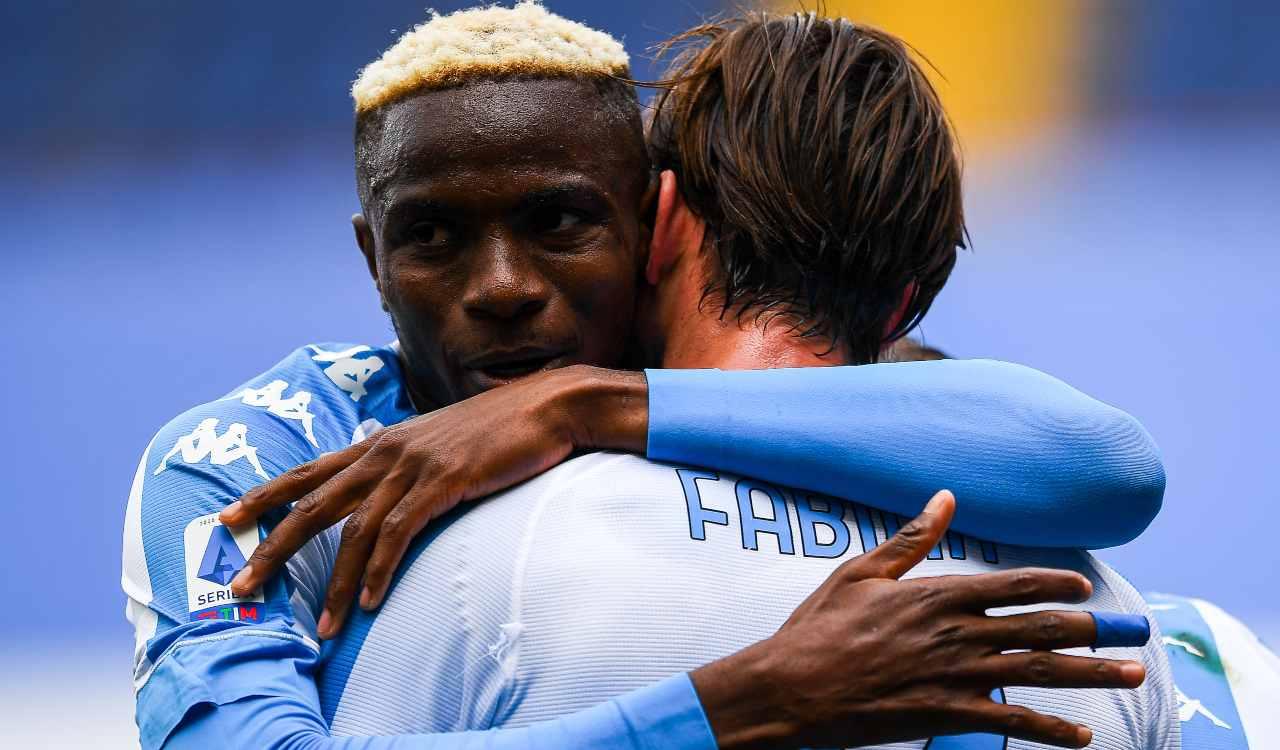 Osimhen Fabian Ruiz Sampdoria Napoli