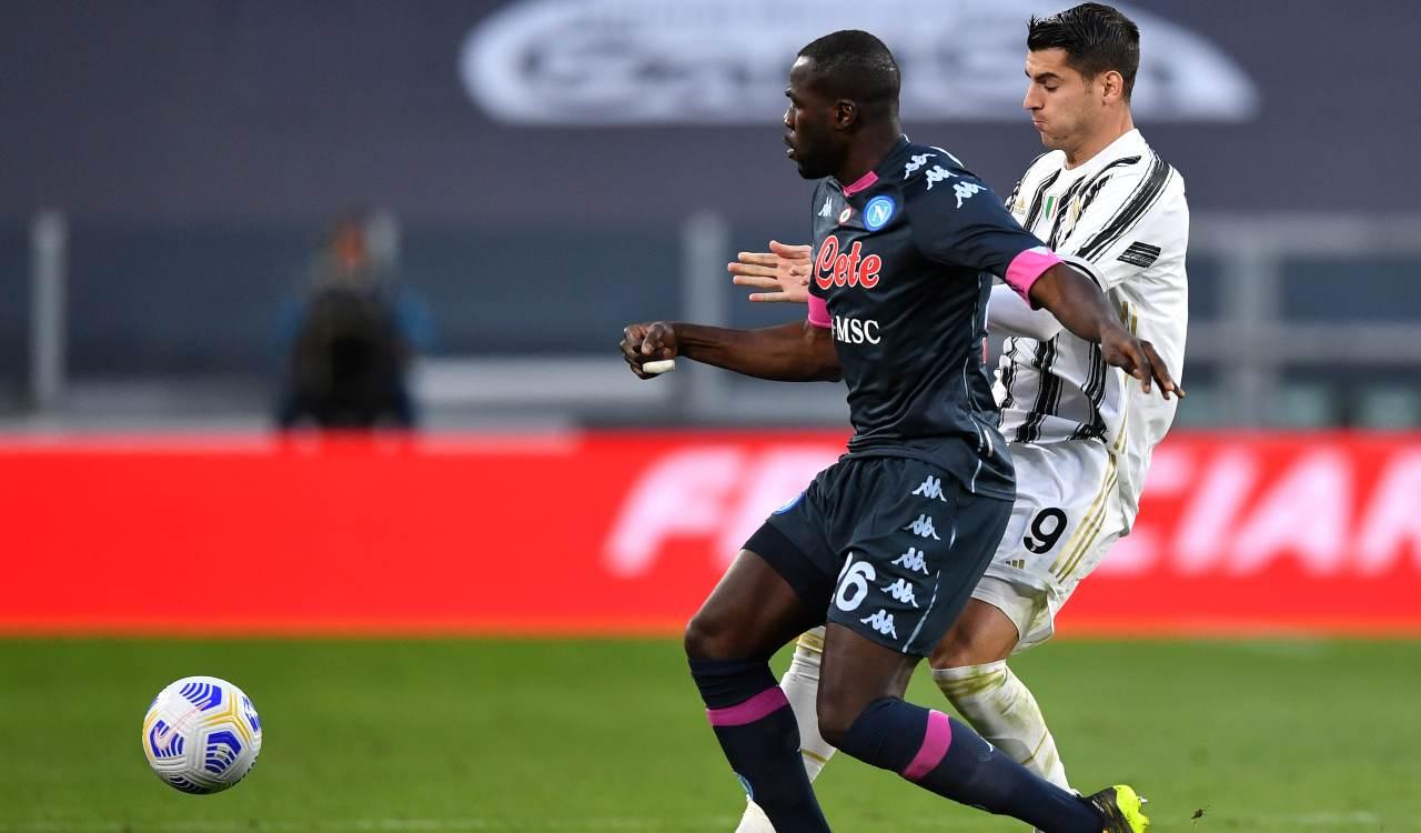 Koulibaly Morata Juve Napoli