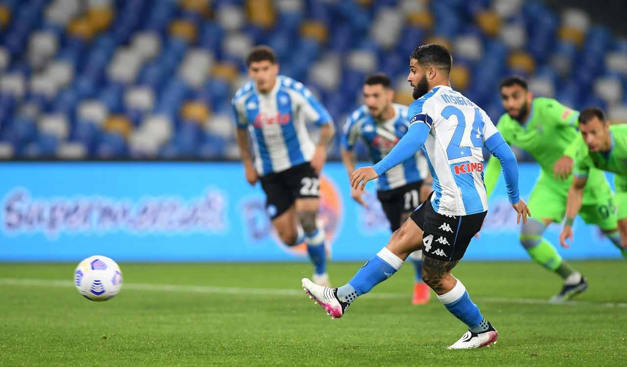 Insigne rigore Napoli Champions