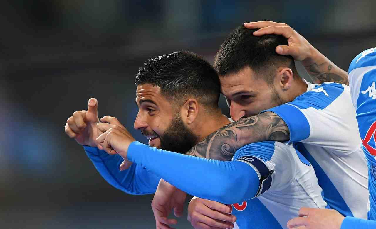 Insigne e Politano esultanza Napoli Tuttosport