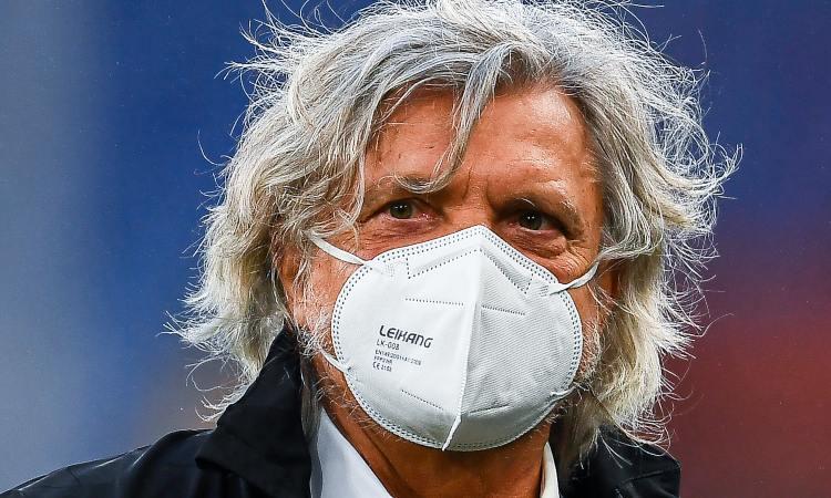 Massimo Ferrero con la mascherina