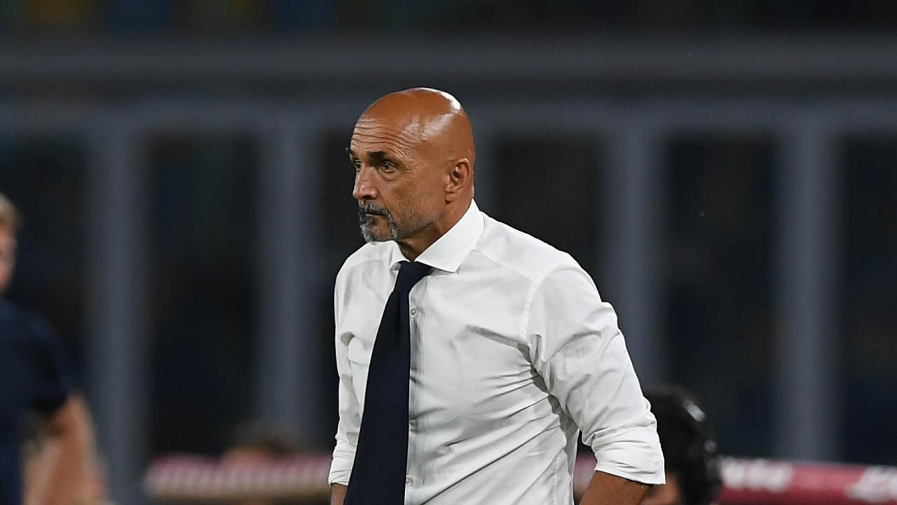 Luciano Spalletti durante una partita del Napoli