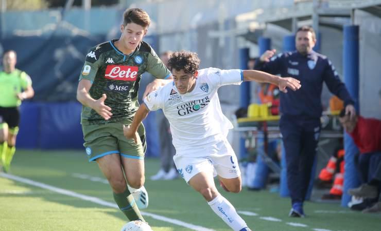 Alessandro Zanoli con la Primavera del Napoli