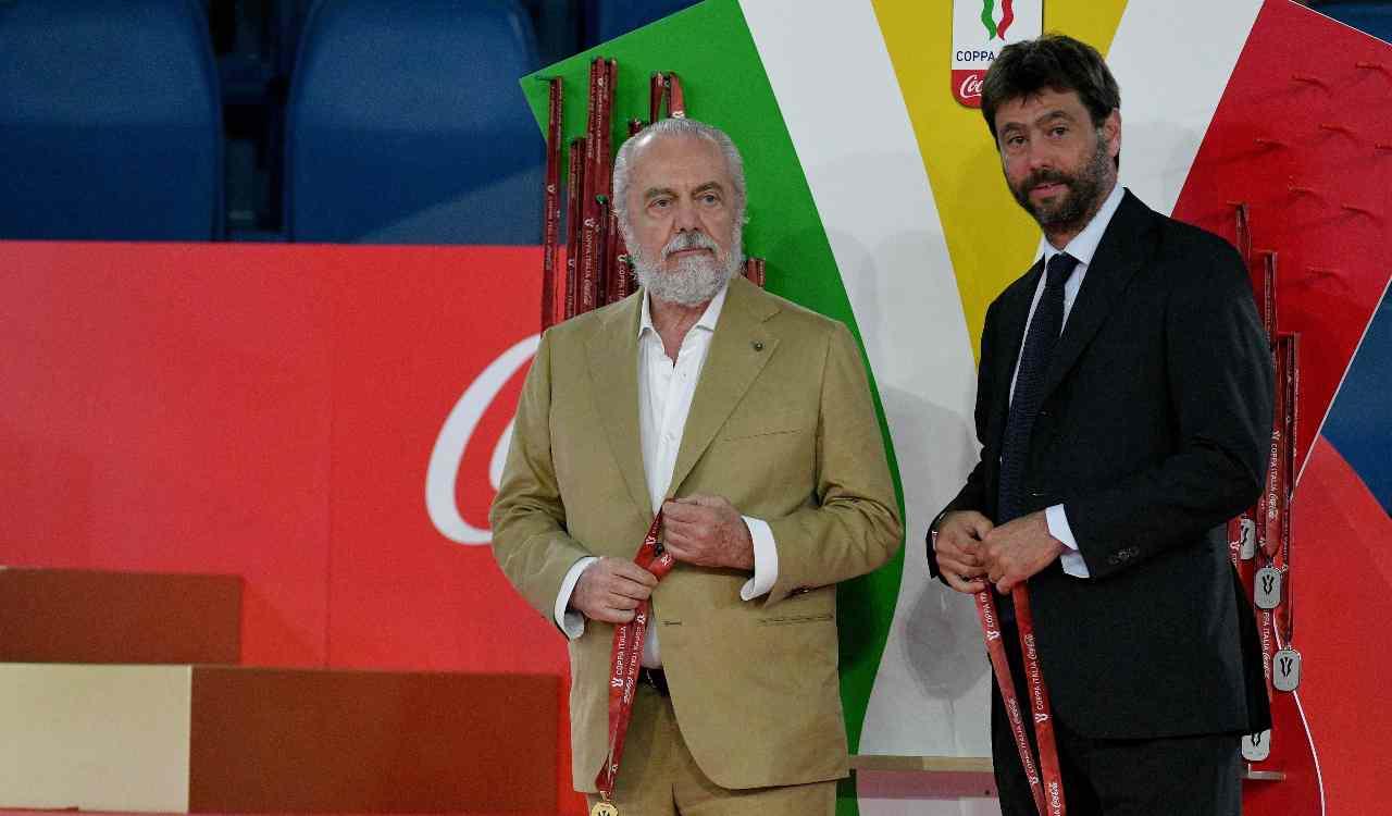 De Laurentiis alla premiazione della Coppa Italia