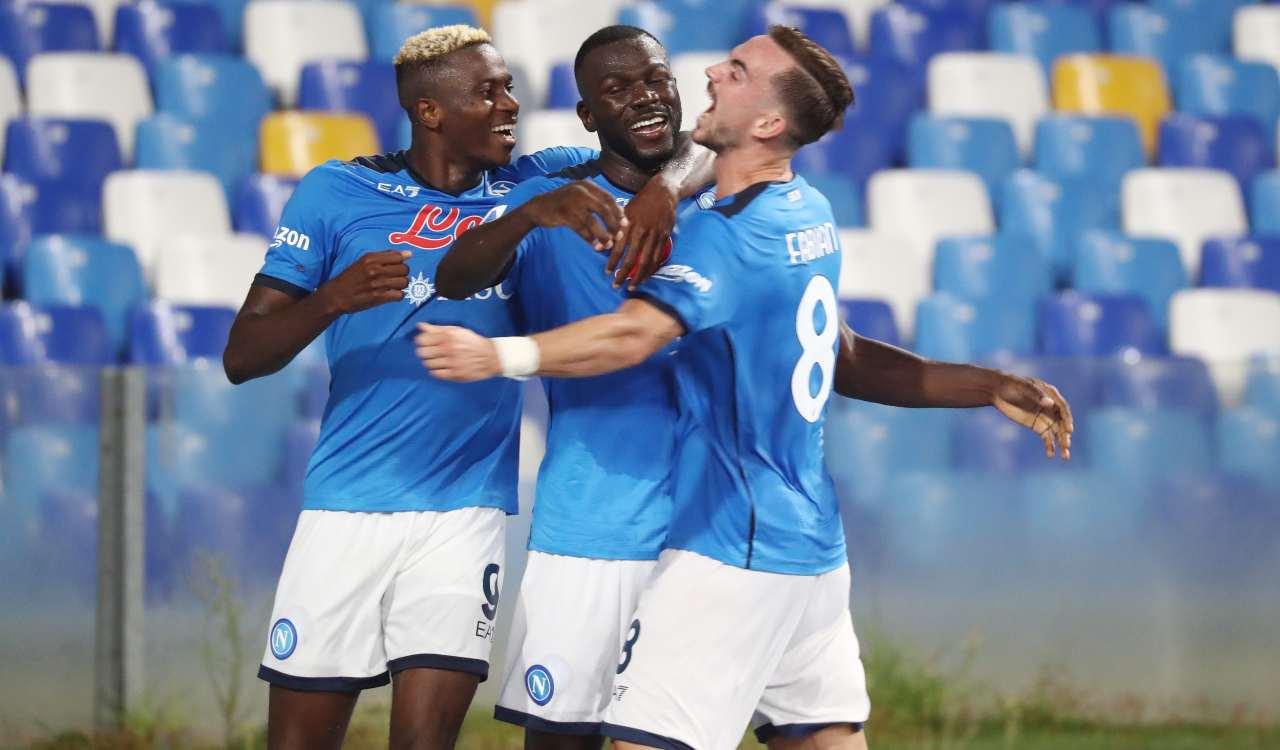 Napoli esultanza Udinese