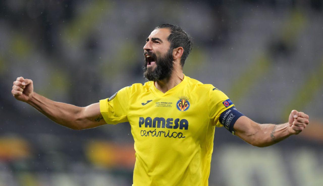 Raul Albiol durante la vittoria dell'Europa League