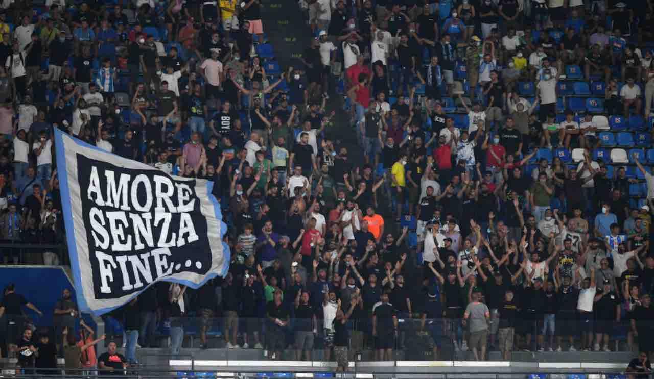 Napoli-Venezia, i tifosi sugli spalti