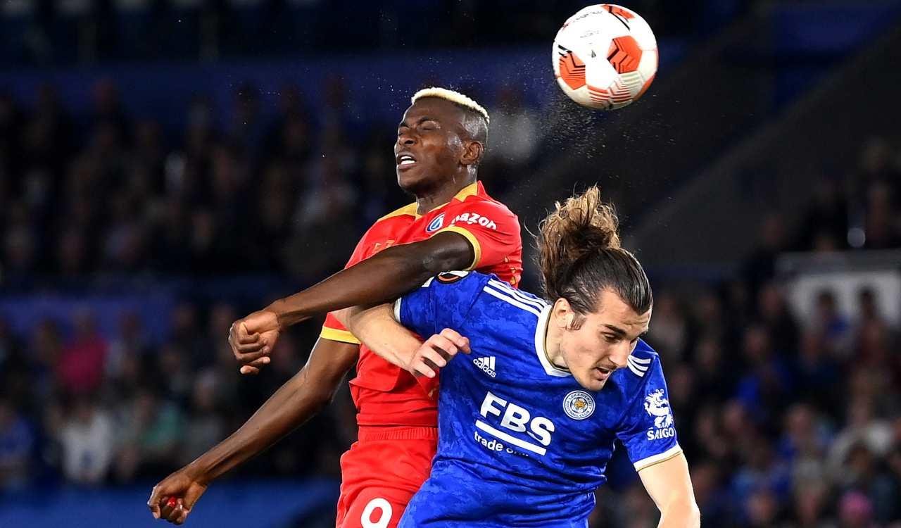 Osimhen Leicester-Napoli