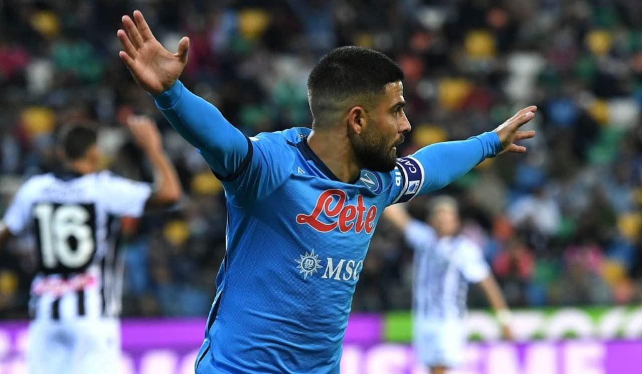 Napoli, Insigne contro l'Udinese