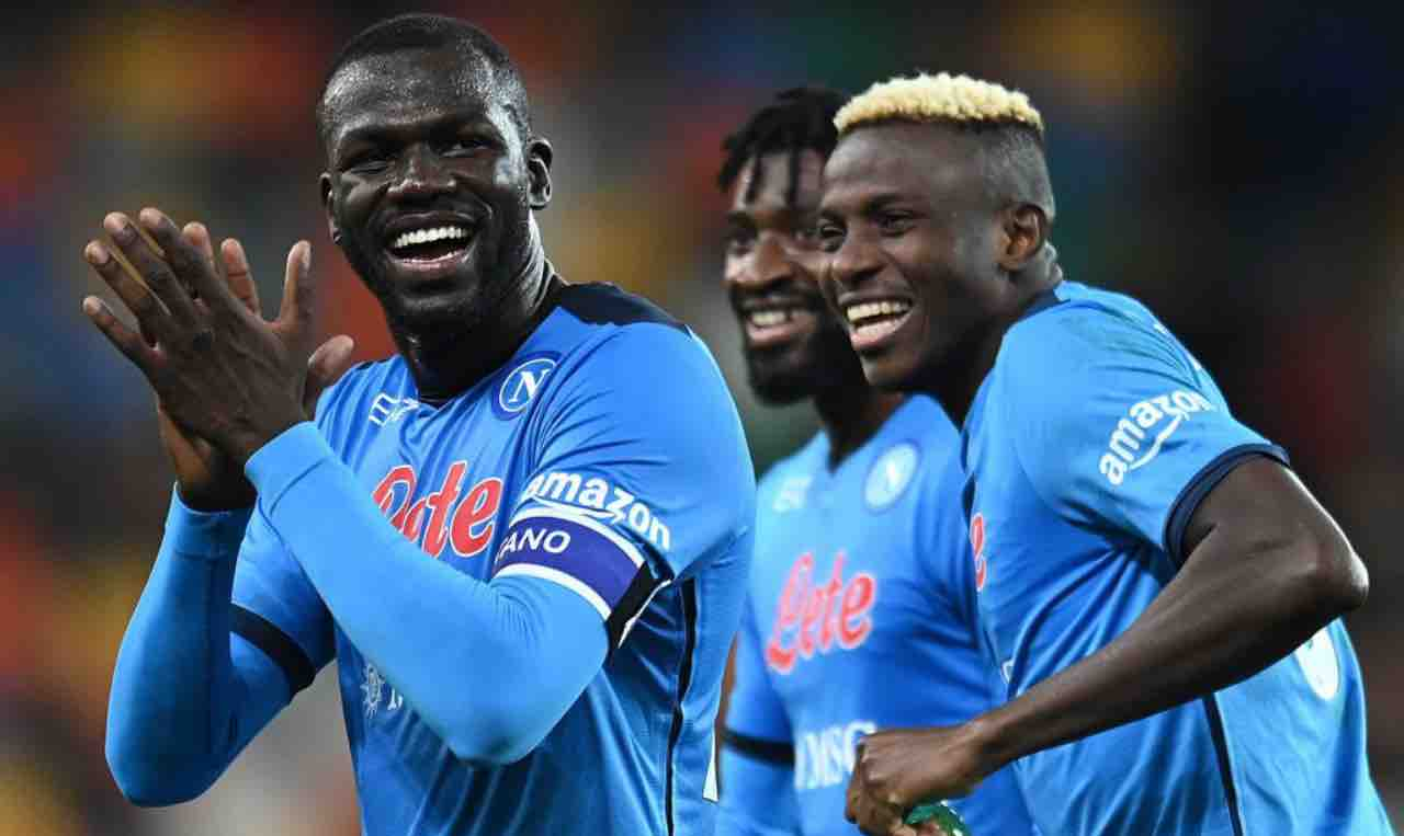 Koulibaly e Osimhen in Udinese-Napoli
