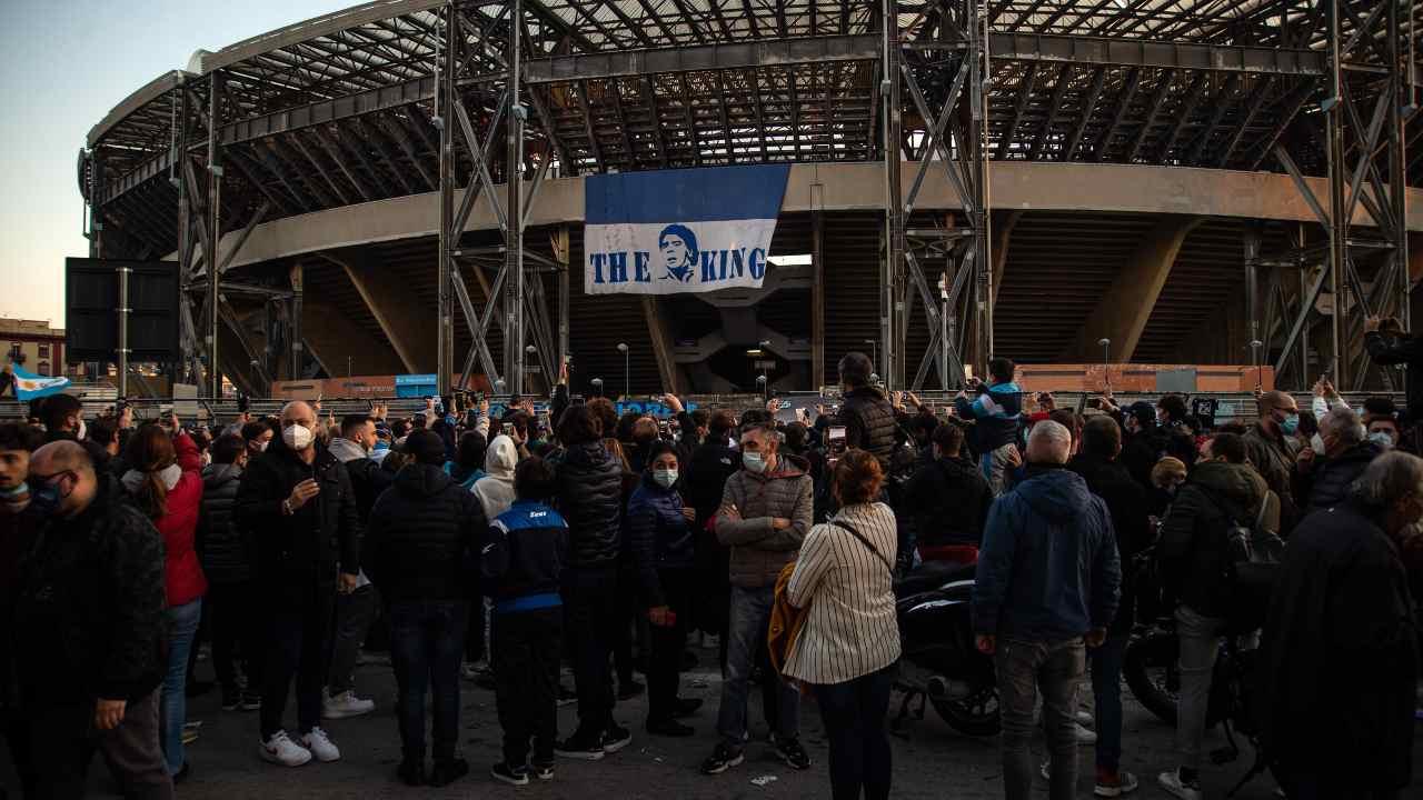 I tifosi del Napoli al Maradona