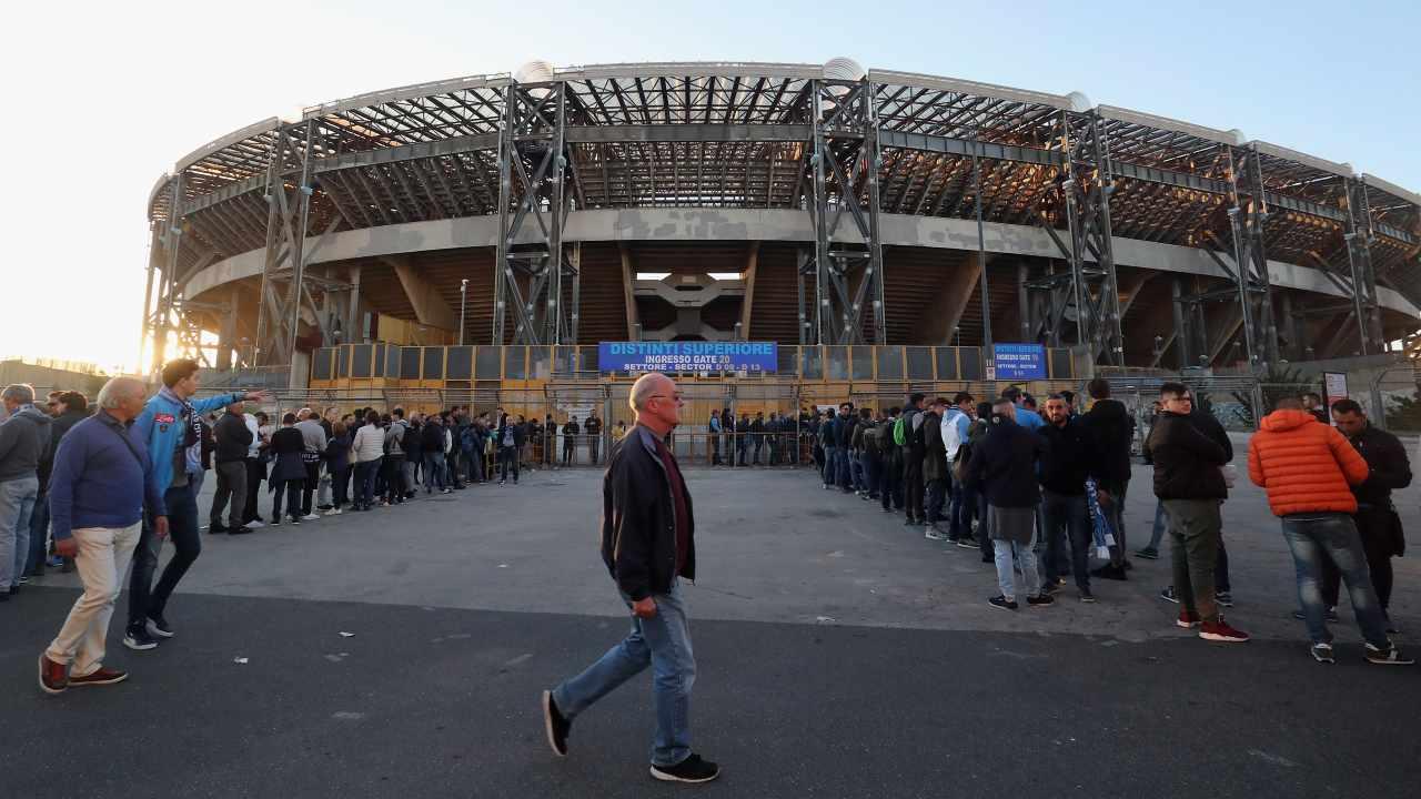 I tifosi del Napoli allo stadio