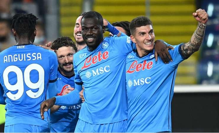 Koulibaly festeggia il gol