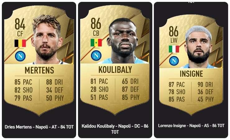 Mertens, Koulibaly e Insigne su FIFA 22