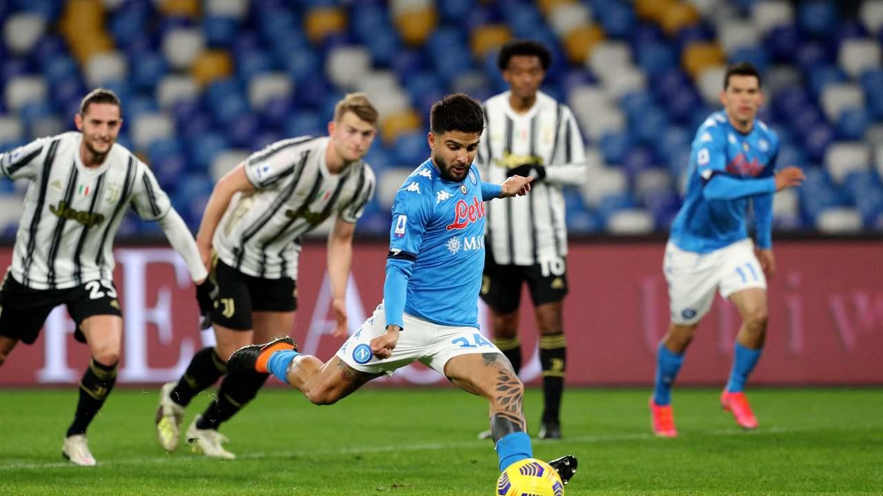 Napoli-Juventus Insigne