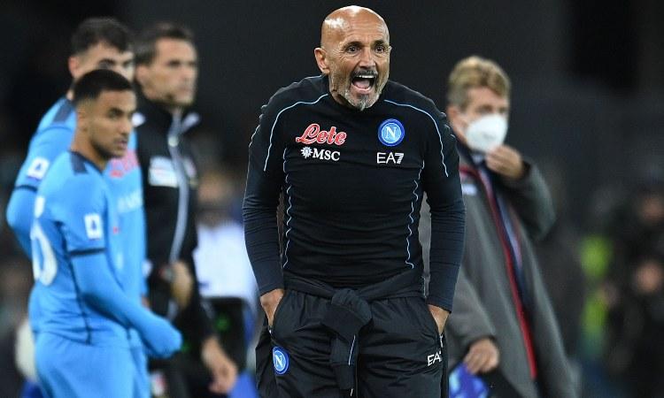 Luciano Spalletti urla in campo