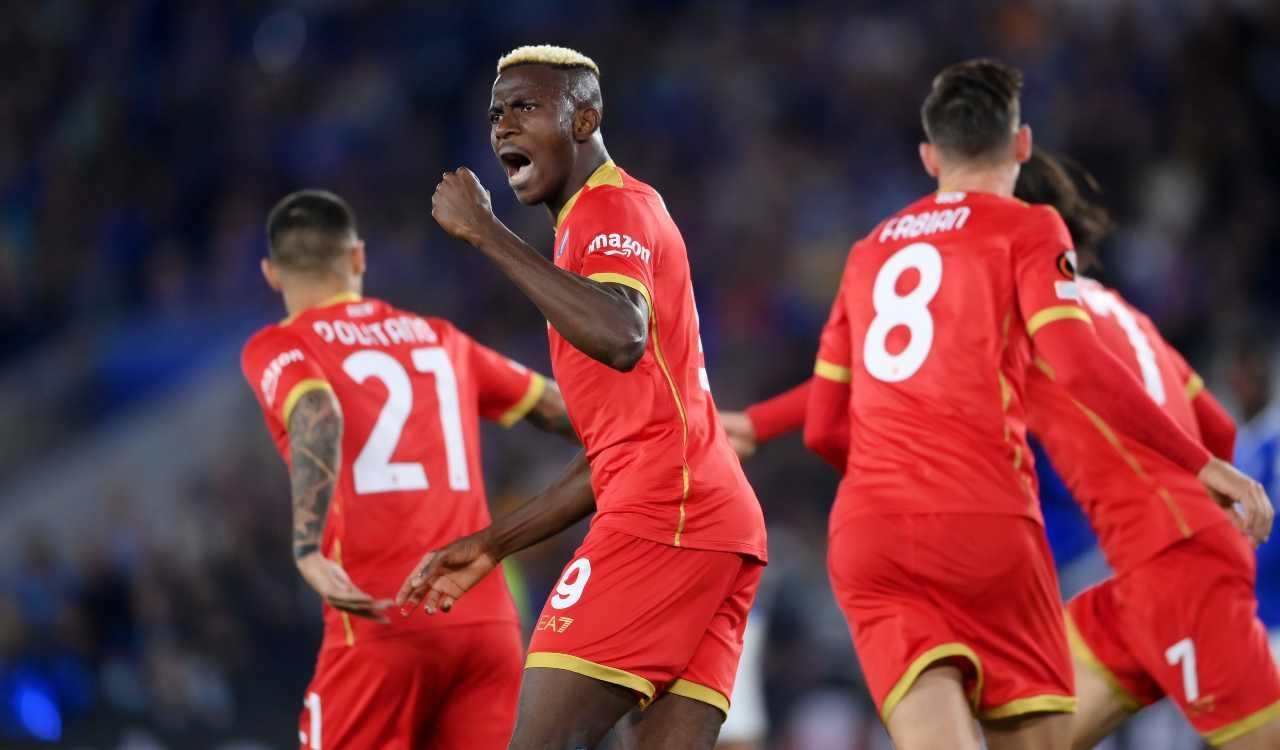 Osimhen gol contro Leicester