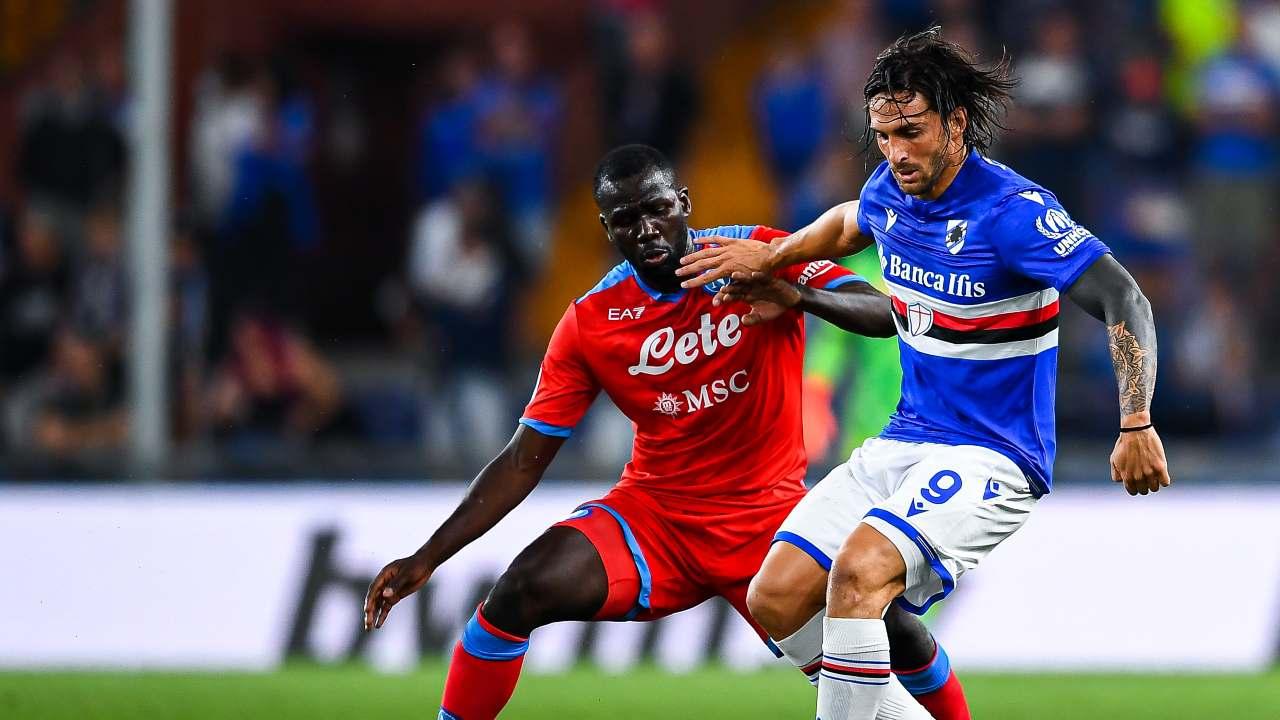 Sampdoria-Napoli, Koulibaly in fase difensiva