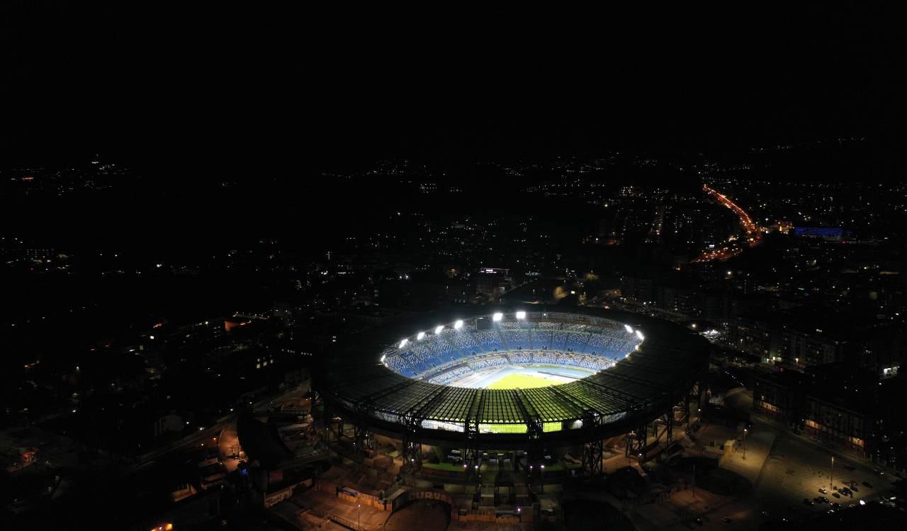 Stadio Maradona di notte