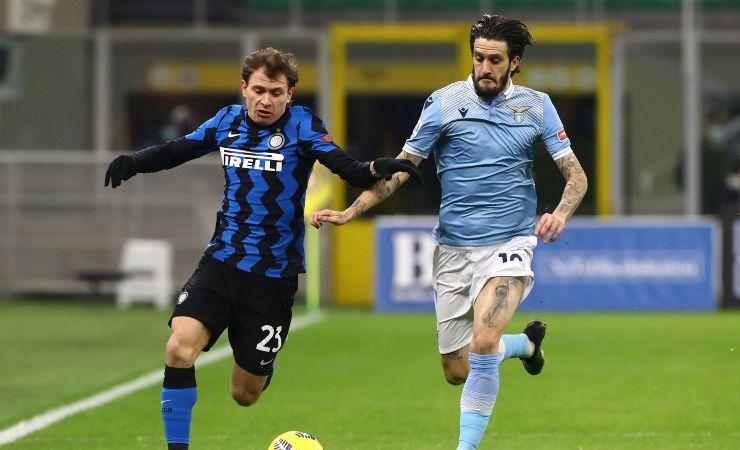 Azione di gioco in Inter-Lazio