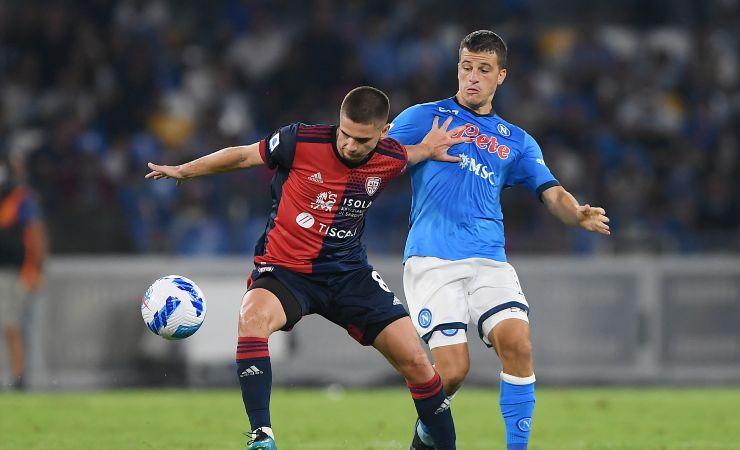 Diego Demme in Napoli-Cagliari