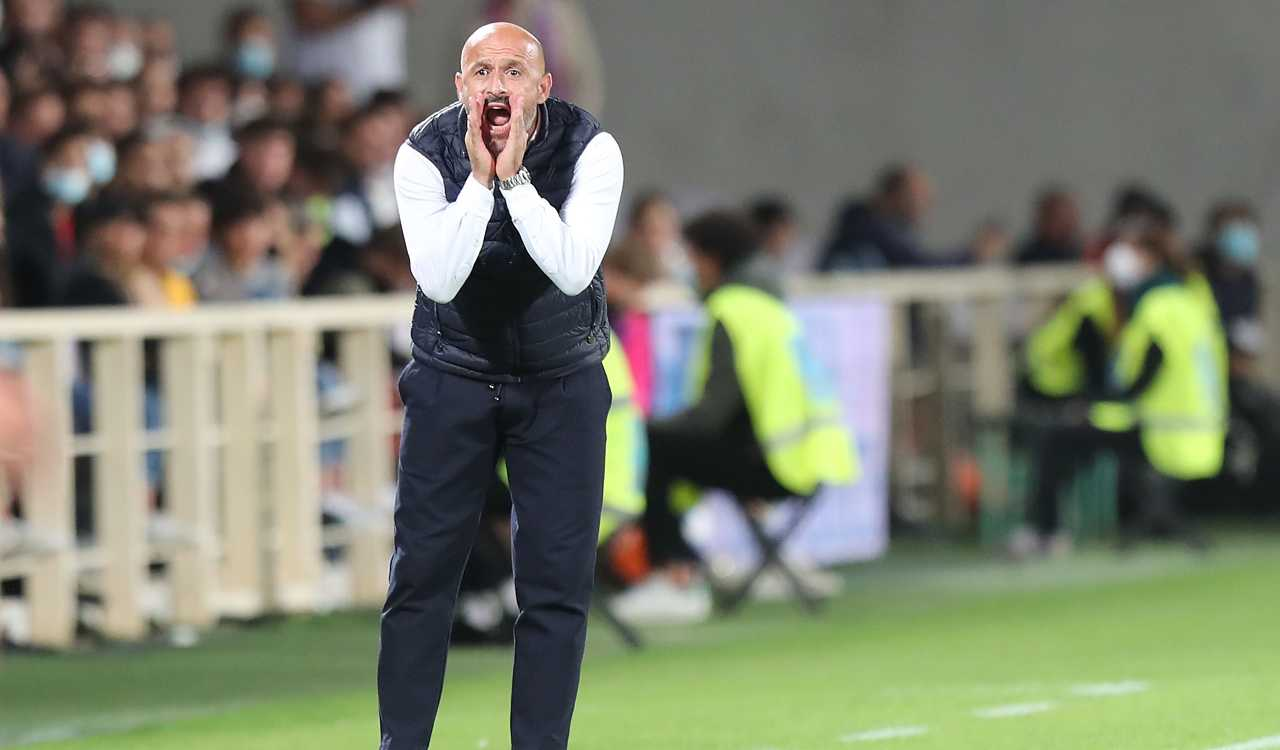 Italiano urla in panchina