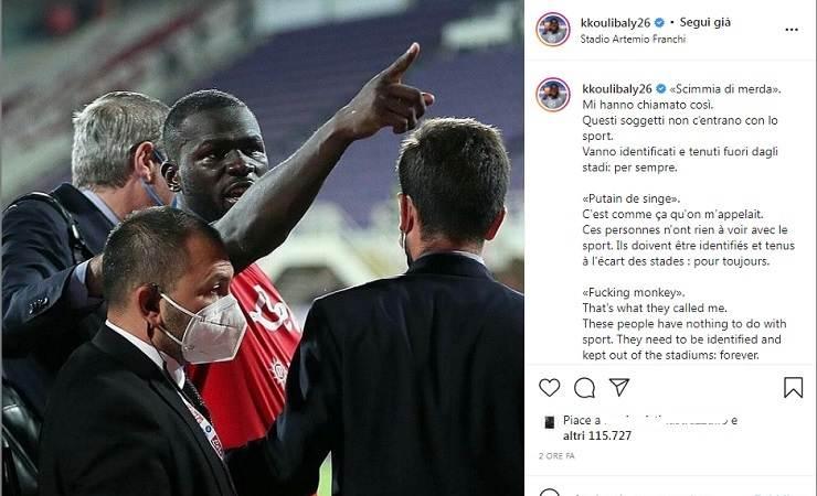 Koulibaly su Instagram
