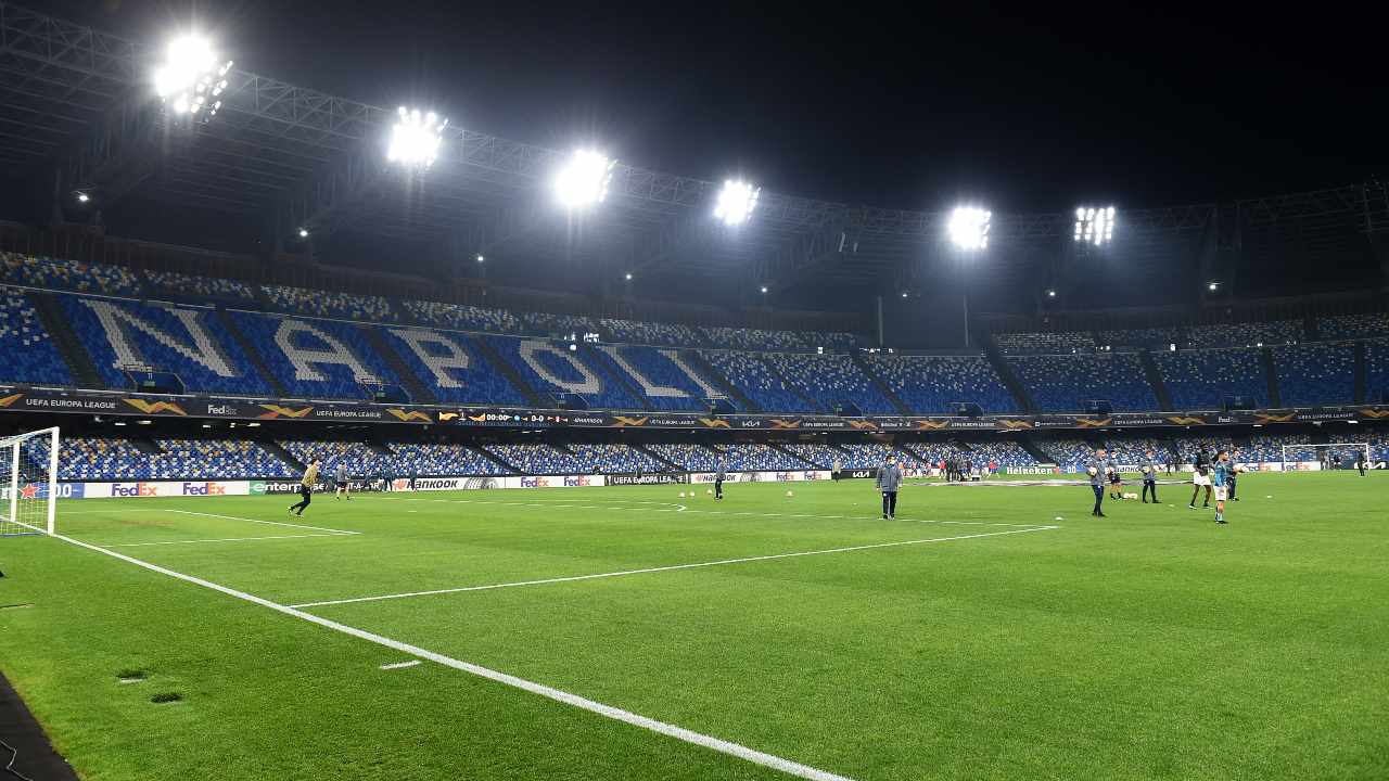 Lo stadio Maradona di Napoli