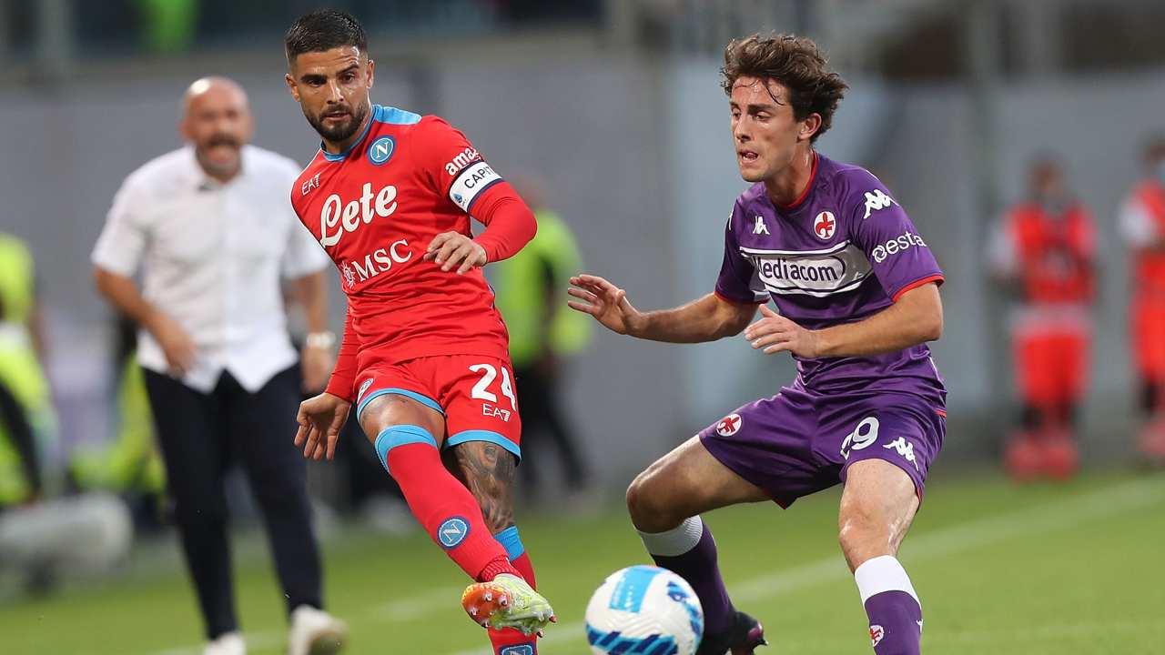 Lorenzo Insigne in Fiorentina-Napoli