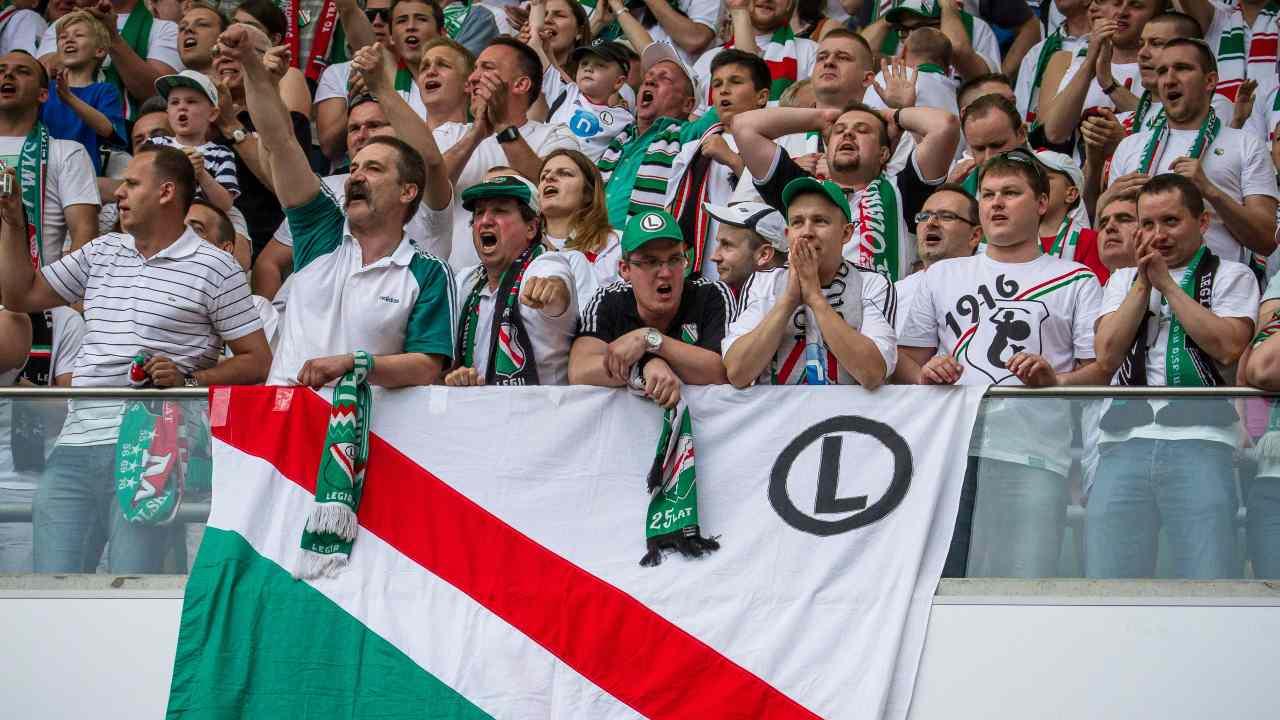 Tifosi del Legia Varsavia